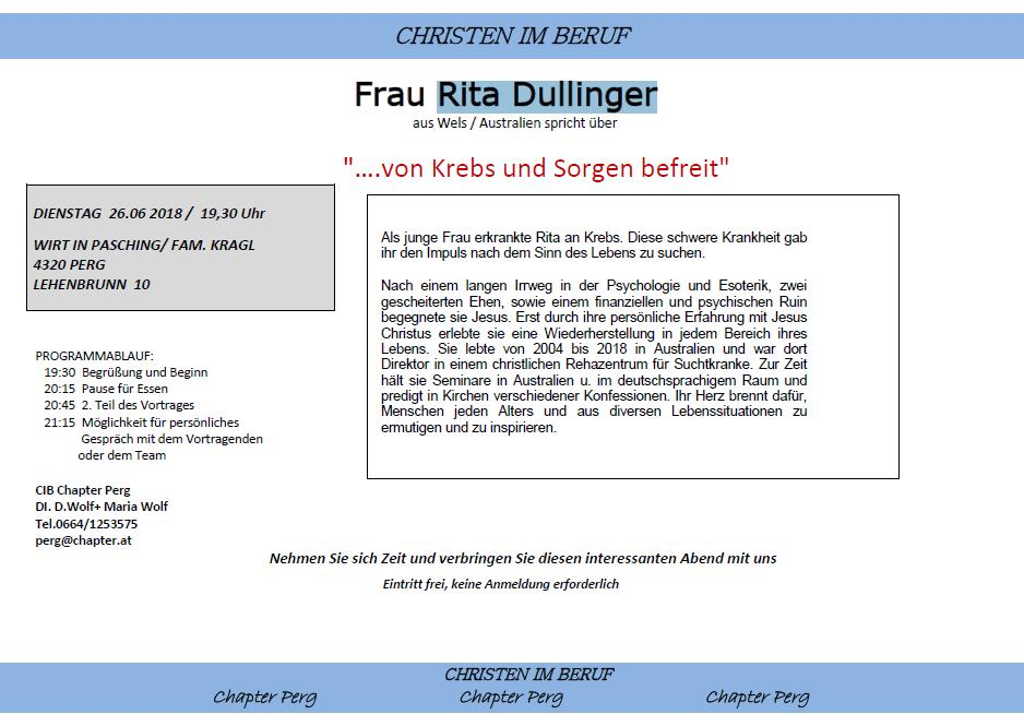 Rita Dullinger 2018 06